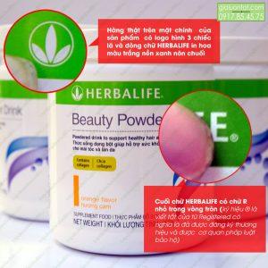 Logo Herbalife trên bao bì sản phẩm