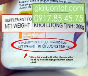 Khối lượng sản phẩm collagen Herbalife là 300g
