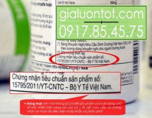 Chứng nhận bộ y tế sản phẩm Cell Activator Herbalife năm 2011
