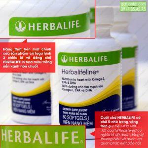 Hàng chính hãng được in logo Herbalife rõ nét
