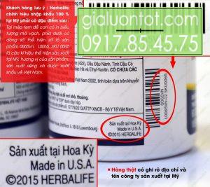 Nơi sản xuất Herbalife Omega 3