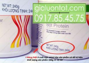 Khối lượng tịnh sản phẩm bột PP là 240g