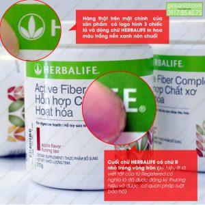 Cuối chữ Herbalife có vòng tròn R trên logo sản phẩm