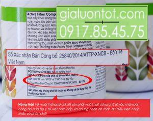Xác nhận của bộ y tế Việt Nam về chất lượng sản phẩm