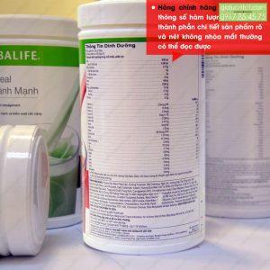 Thông số sữa Herbalife được ít rõ nét không bị nhòe và mờ