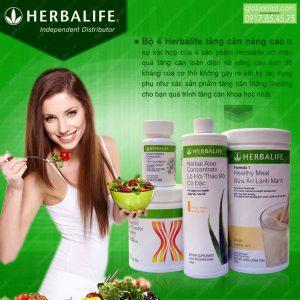Nâng cao cân nặng nhanh chóng với bộ 4 herbalife