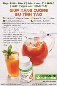 Trà N-R-G Herbalife cải thiện sự tỉnh táo hiệu quả